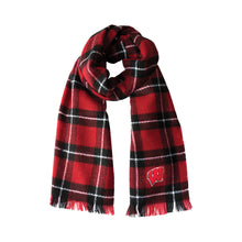Load image into Gallery viewer, University of Wisconsin Plaid Blanket Scarf