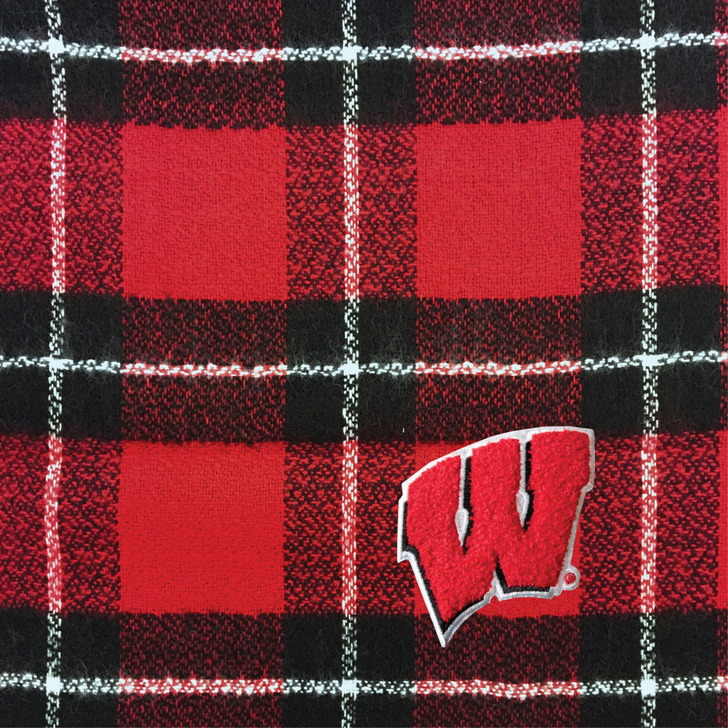 University of Wisconsin Plaid Blanket Scarf