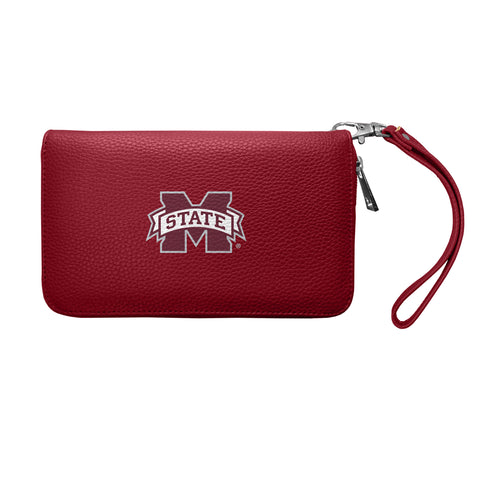 Mississippi State University Zip Organizer Wallet Pebble