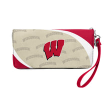 Load image into Gallery viewer, University of Wisconsin Curve Zip Organizer Wallet