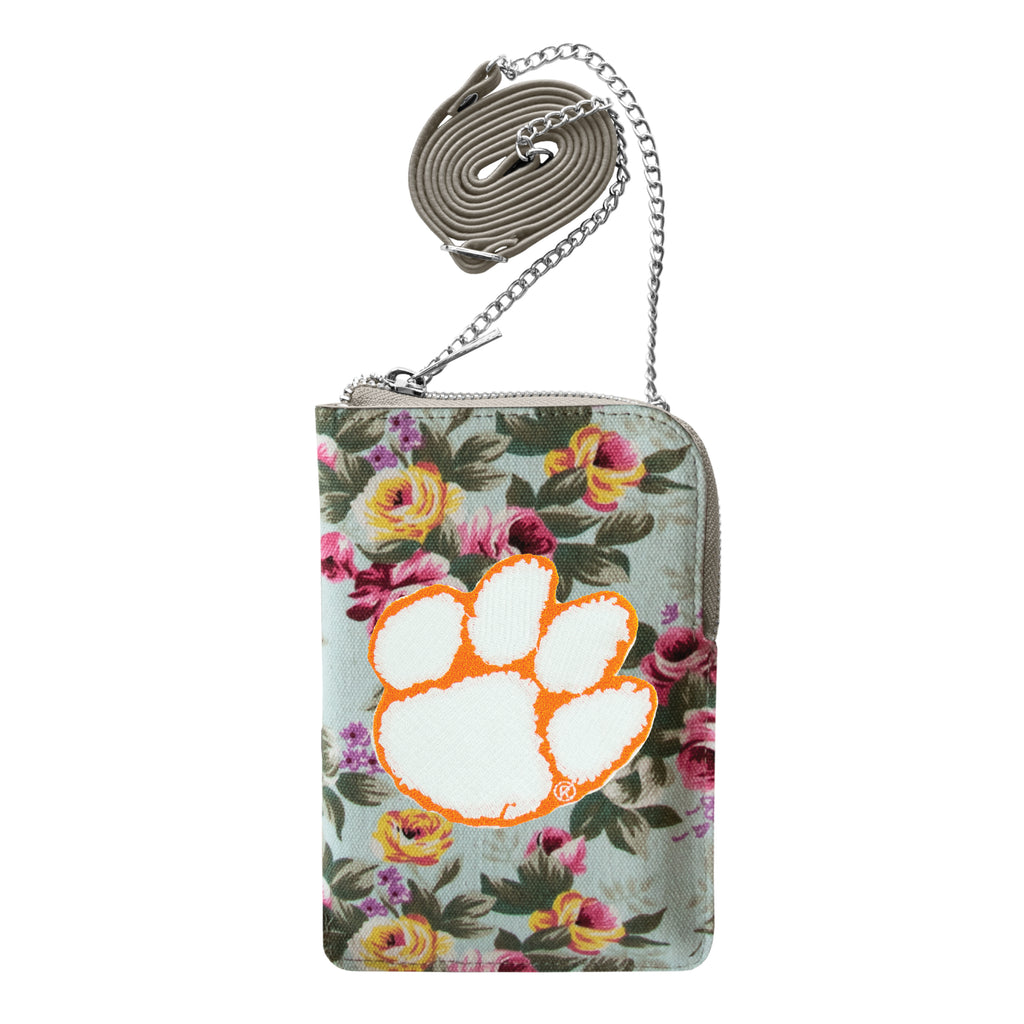 Clemson University Canvas Floral Smart Purse
