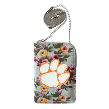 Load image into Gallery viewer, Clemson University Canvas Floral Smart Purse