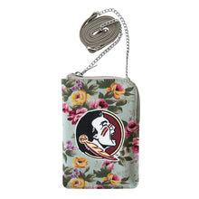 Load image into Gallery viewer, Florida State University Canvas Floral Smart Purse
