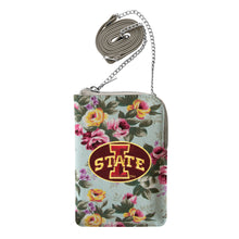 Load image into Gallery viewer, Iowa State University Canvas Floral Smart Purse