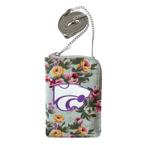 Kansas State University Canvas Floral Smart Purse
