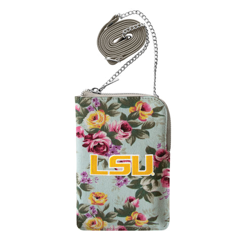 Louisiana State University Canvas Floral Smart Purse