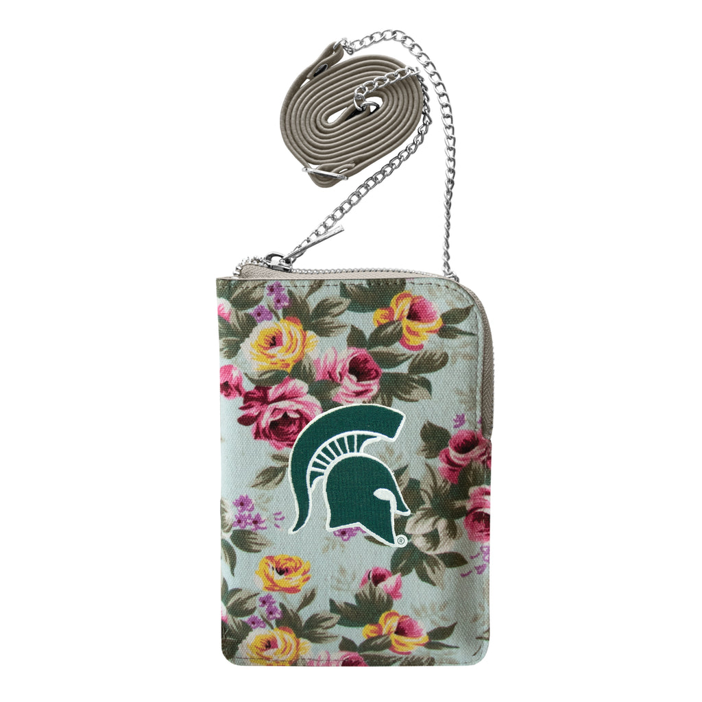 Michigan State University Canvas Floral Smart Purse
