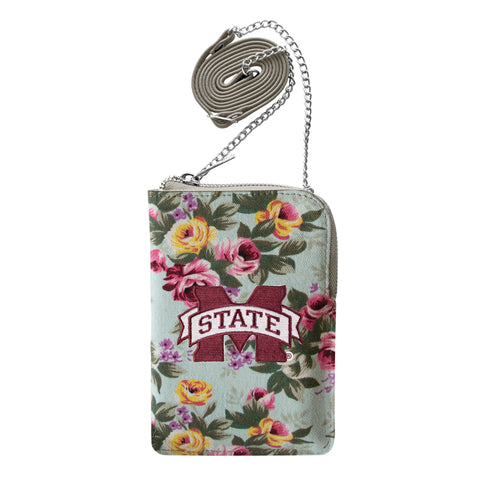 Mississippi State University Canvas Floral Smart Purse