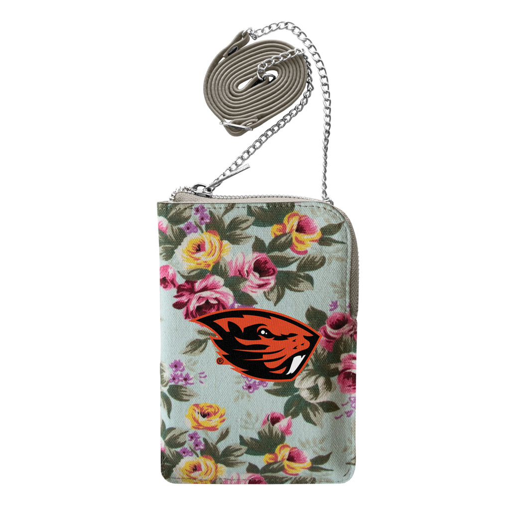 Oregon State University Canvas Floral Smart Purse
