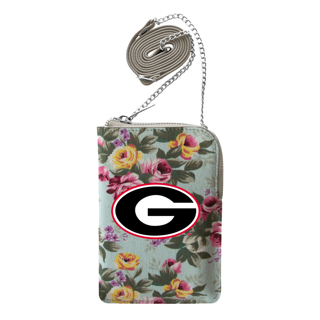 University of Georgia Canvas Floral Smart Purse