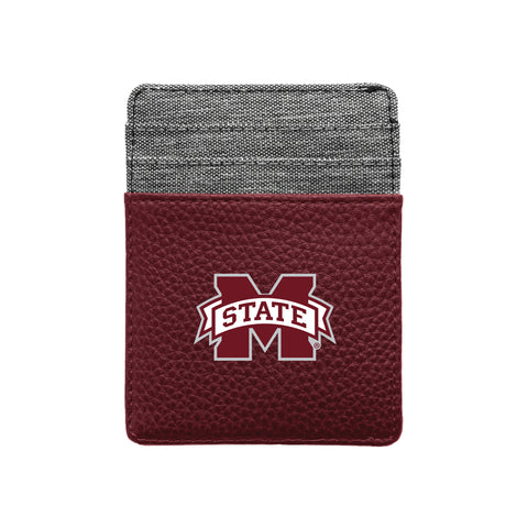 Mississippi State University Pebble Front Pocket Wallet