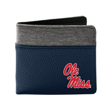 Load image into Gallery viewer, University of Mississippi Pebble Bi-Fold Wallet