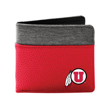 Load image into Gallery viewer, University of Utah Pebble Bi-Fold Wallet