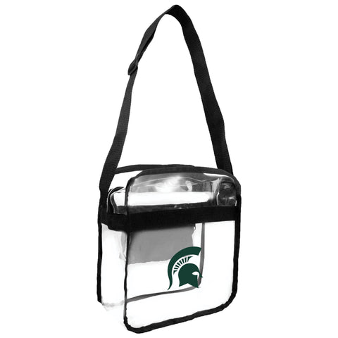 Michigan State Spartans Clear Carryall Crossbody