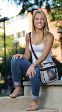 Load image into Gallery viewer, University of Kansas Clear Carryall Crossbody