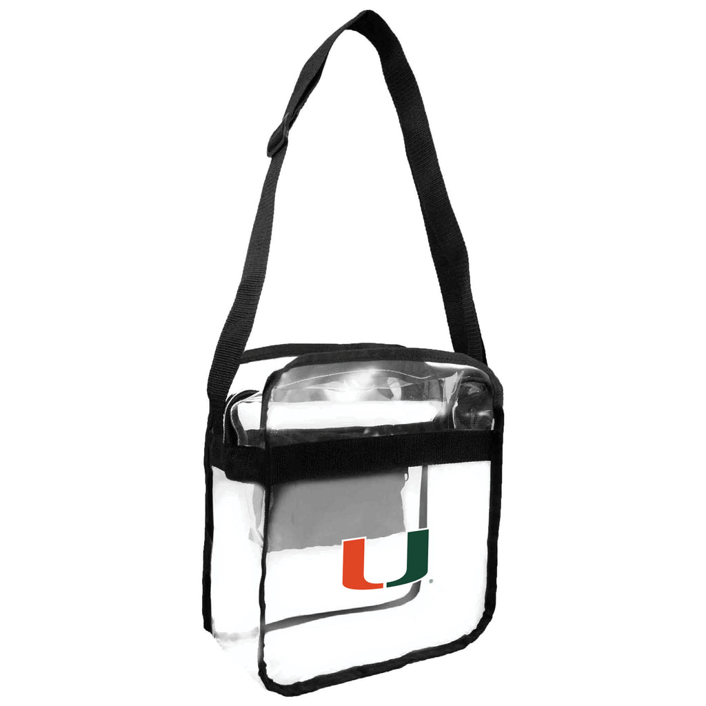 University of Miami Clear Carryall Crossbody