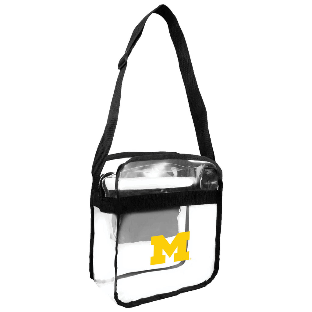 Michigan Wolverines Clear Carryall Crossbody