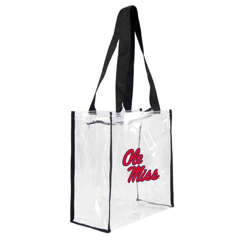 Mississippi Old Miss Rebels Clear Square Stadium Tote