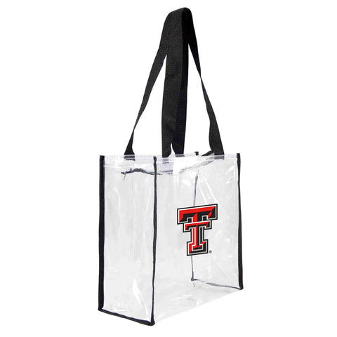 Texas Tech Red Raiders Clear Square Stadium Tote
