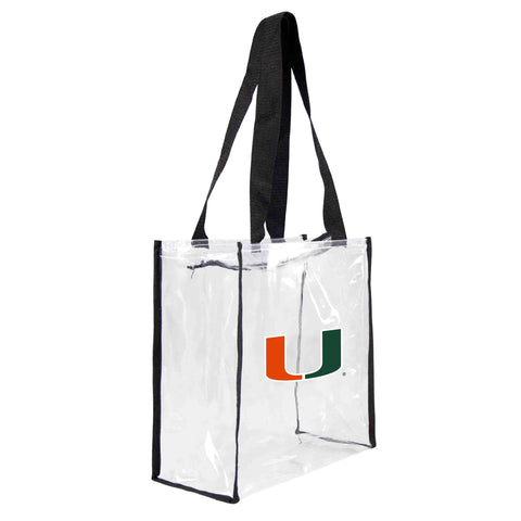 Miami Hurricanes Clear Square Stadium Tote