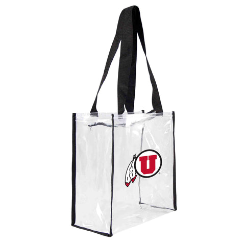 Utah Utes Clear Square Stadium Tote