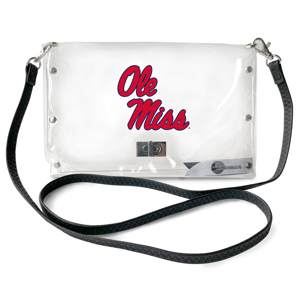 University of Mississippi Clear Envelope Purse