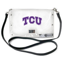 Load image into Gallery viewer, Texas Christian University Clear Envelope Purse