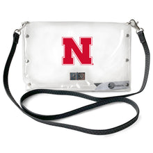 Load image into Gallery viewer, University of Nebraska Clear Envelope Purse