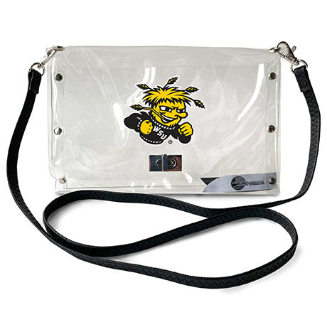 Wichita State University Clear Envelope Purse