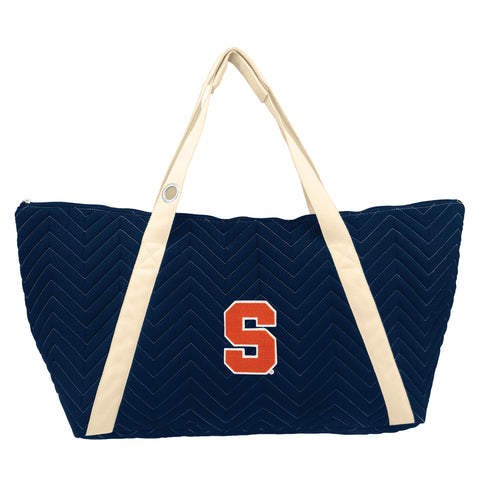 Syracuse Orange Chev Stitch Weekender