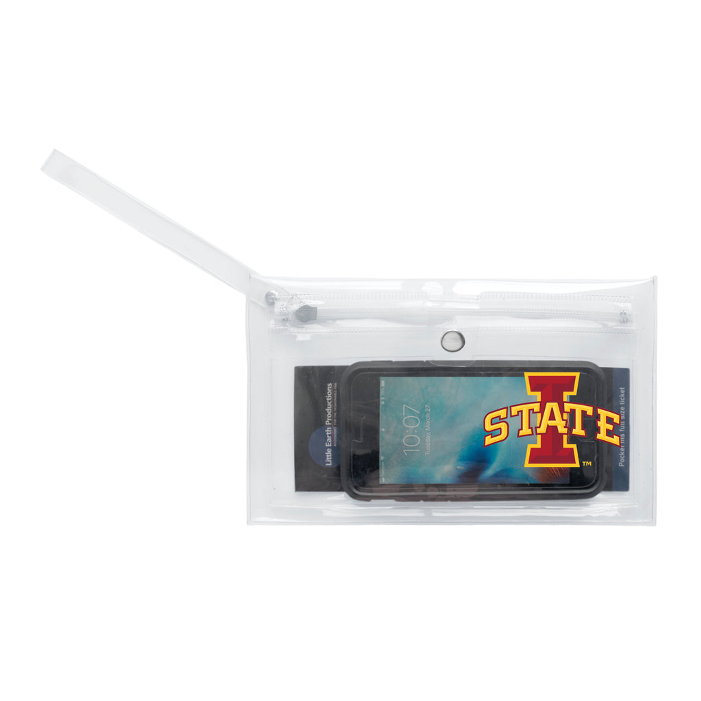 Iowa State University Clear Ticket Wristlet