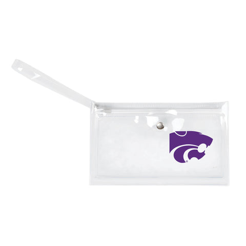 Kansas State University Clear Ticket Wristlet