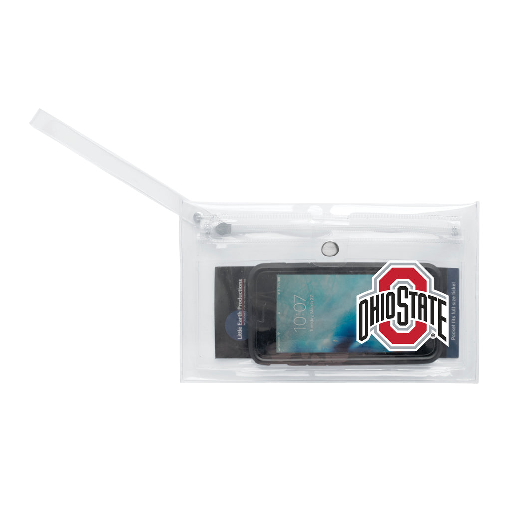 Ohio State University Clear Ticket Wristlet