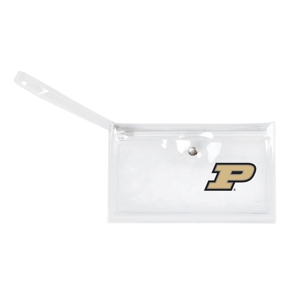 Purdue University Clear Ticket Wristlet