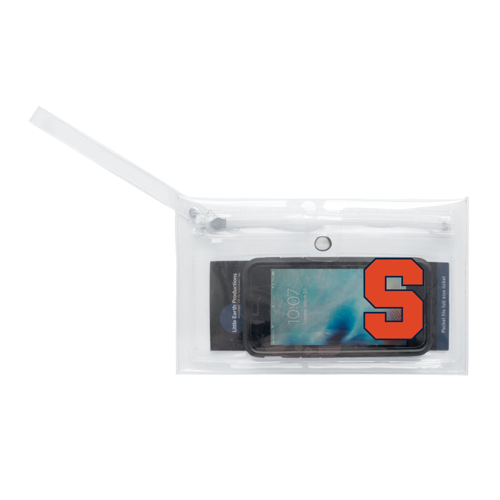Syracuse University Clear Ticket Wristlet