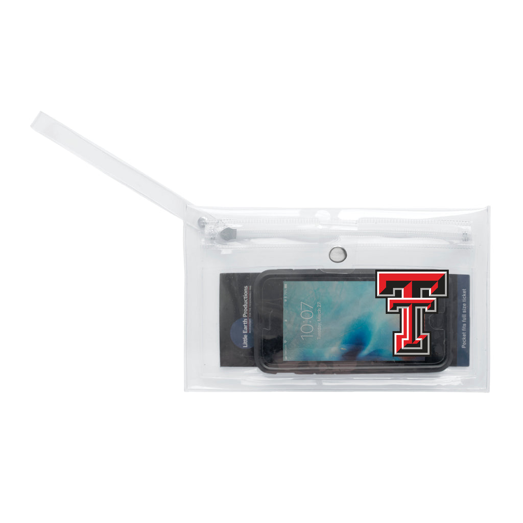 Texas Tech University Clear Ticket Wristlet