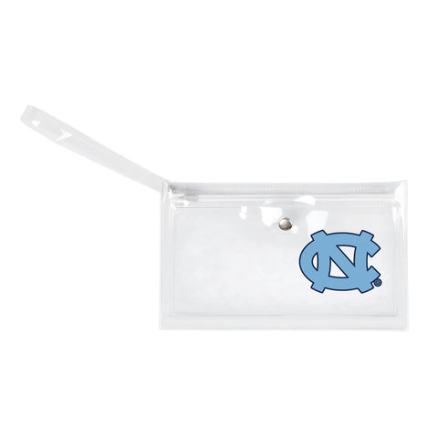 University of North Carolina Clear Ticket Wristlet
