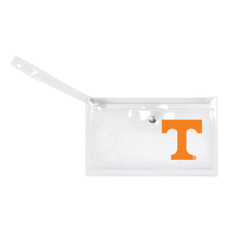 University of Tennessee Clear Ticket Wristlet