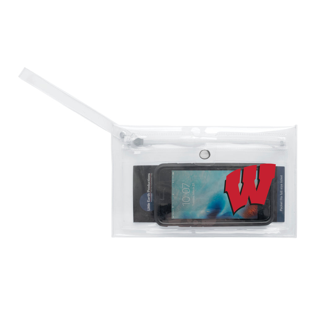 University of Wisconsin Clear Ticket Wristlet