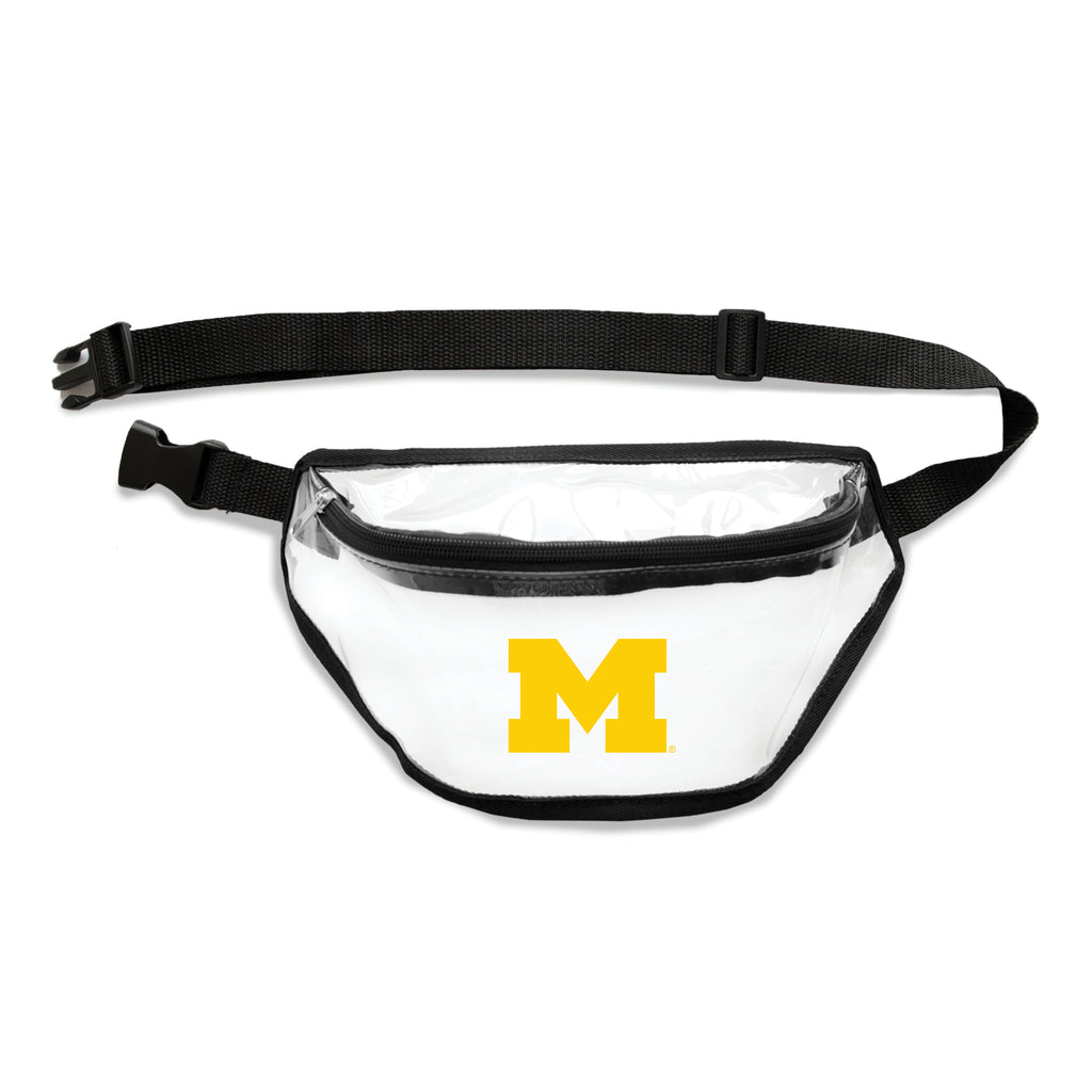 Michigan Wolverines Clear Fanny Pack