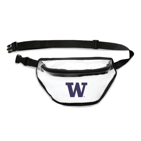 Washington Huskies Clear Fanny Pack