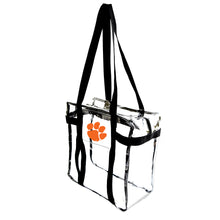 Load image into Gallery viewer, Clemson University Clear Tote Along