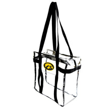 Load image into Gallery viewer, University of Iowa Clear Tote Along