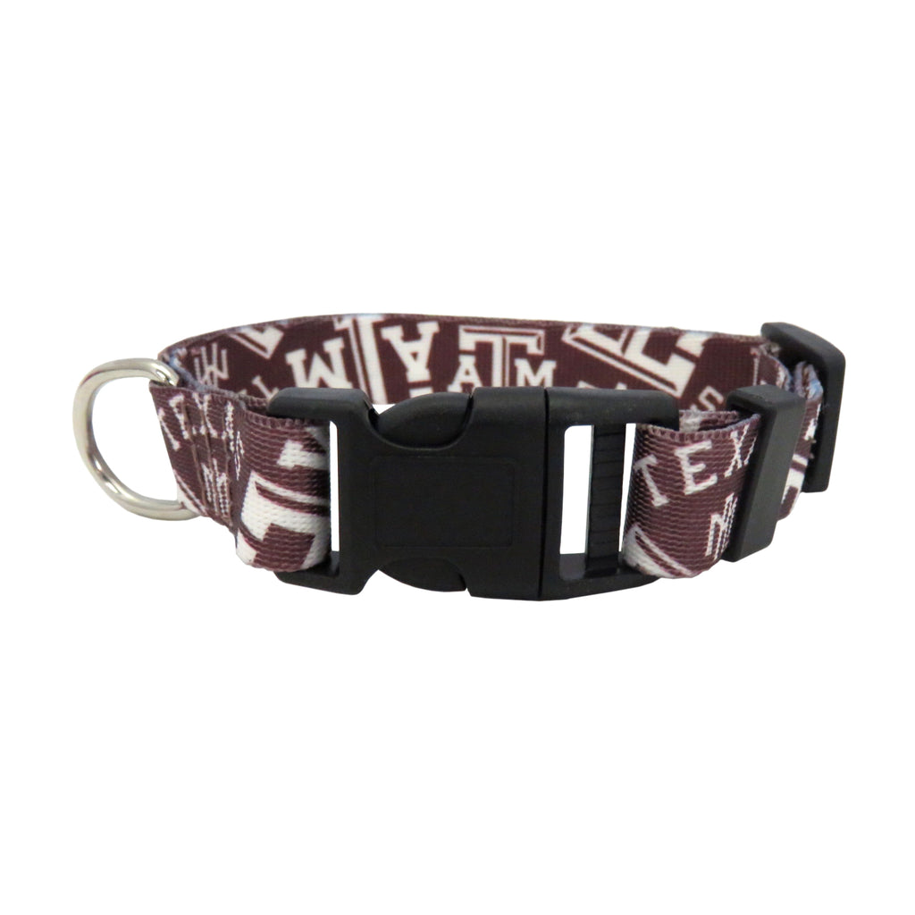 Texas A & M University Pet Team Collar