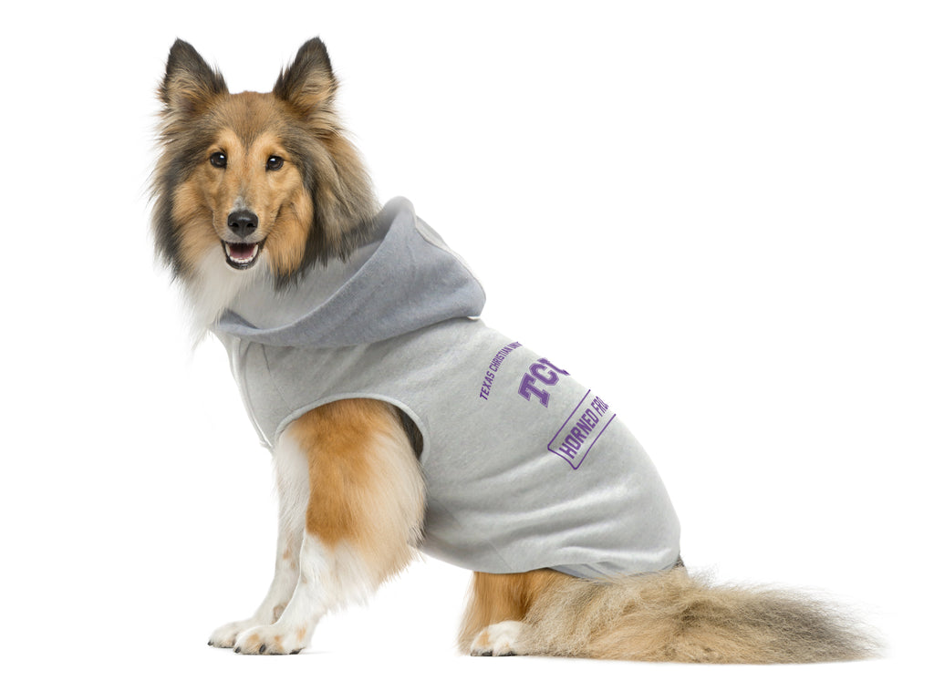 Texas Christian University Pet Hooded Crewneck Type