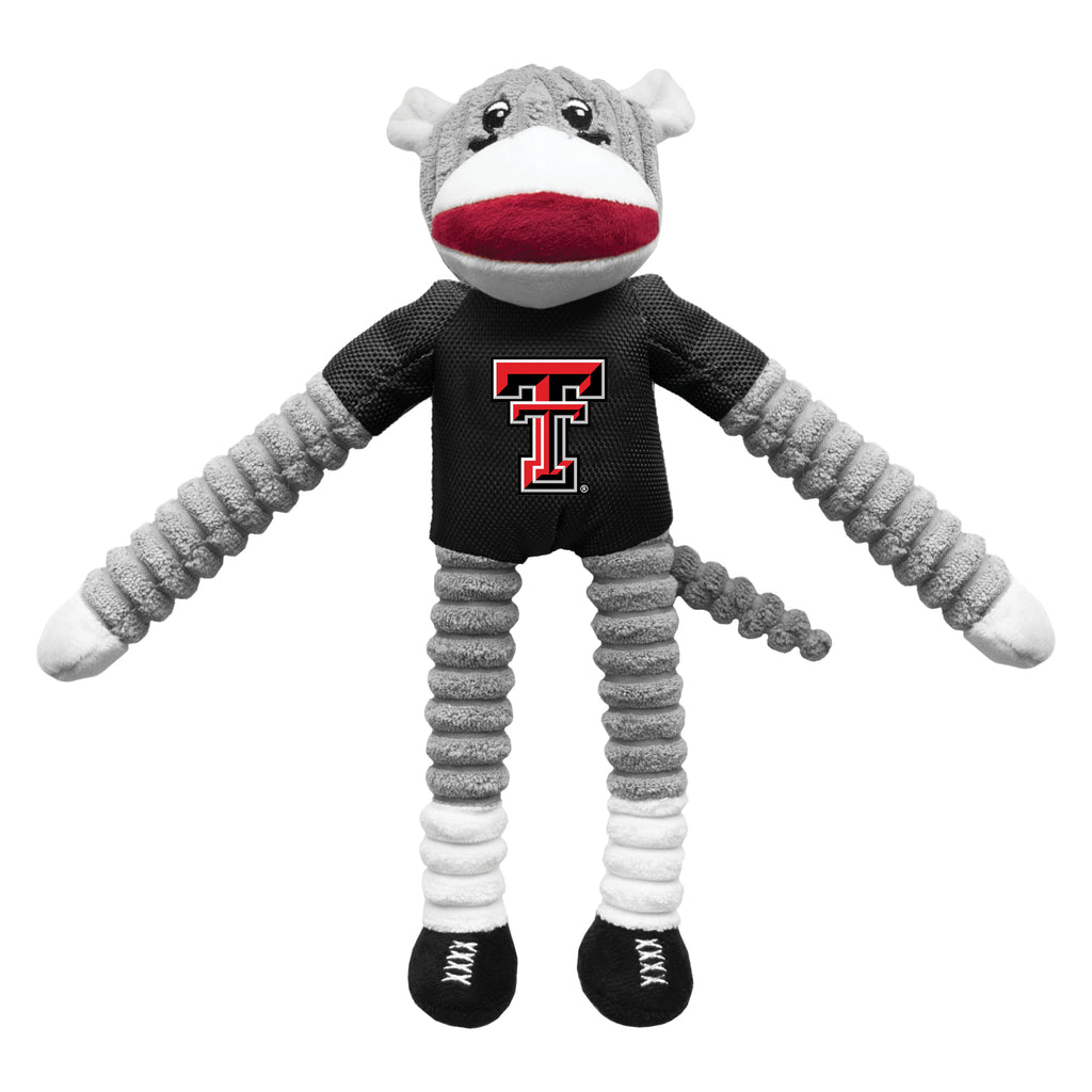 Texas Tech University Team Sock Monkey Pet Toy