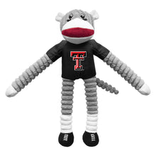 Load image into Gallery viewer, Texas Tech University Team Sock Monkey Pet Toy