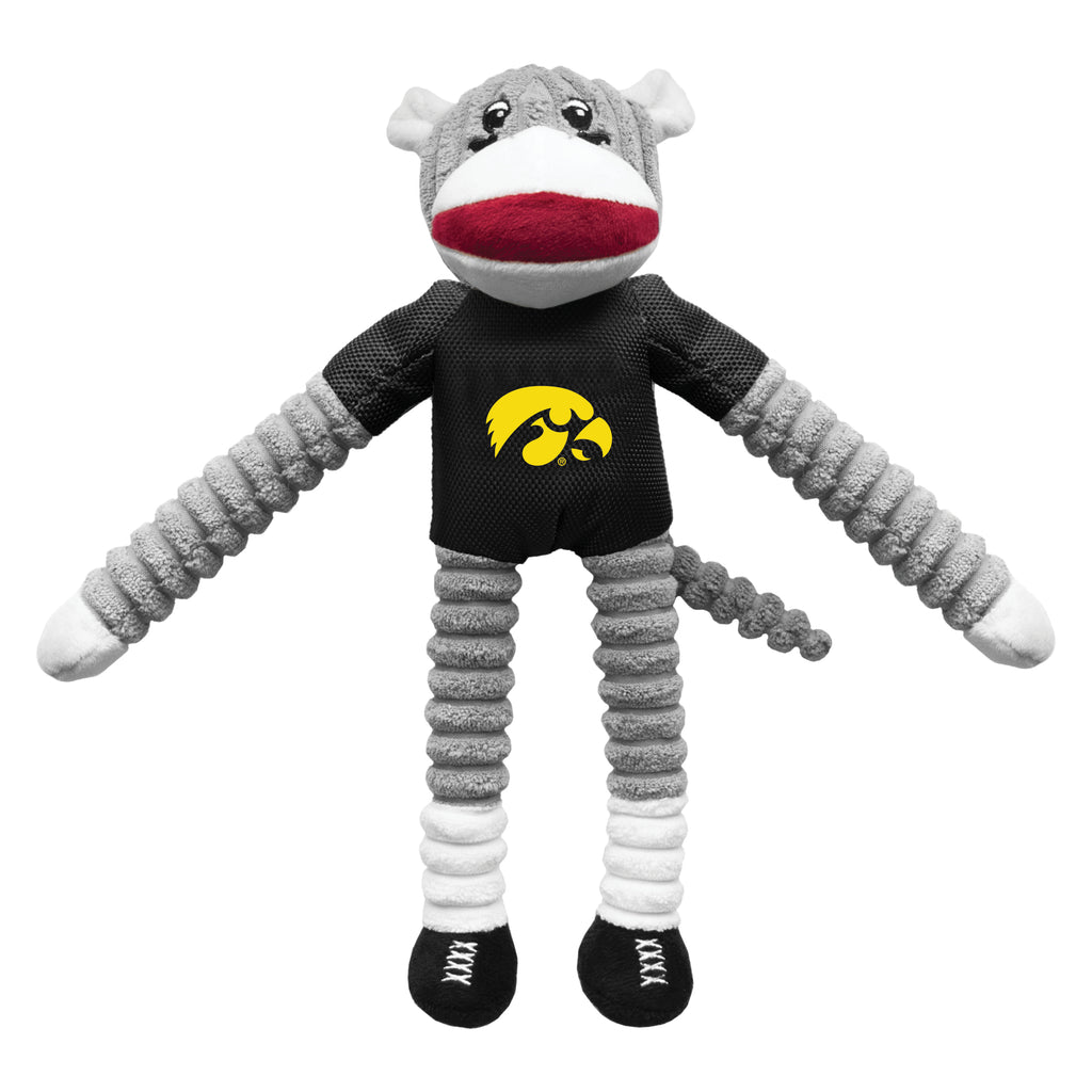 University of Iowa Team Sock Monkey Pet Toy
