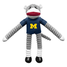 Load image into Gallery viewer, University of Michigan Team Sock Monkey Pet Toy