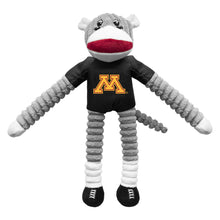 Load image into Gallery viewer, University of Minnesota Team Sock Monkey Pet Toy